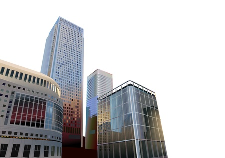 headquarter: realictic vector business city Illustration