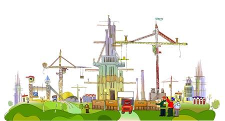 arquitecto caricatura: Sitio de construcci�n