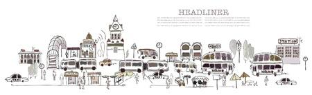cronograma: Parada de autobús central