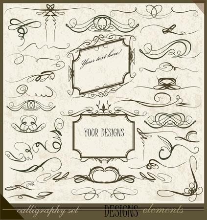 calligraphic design elements  Illustration