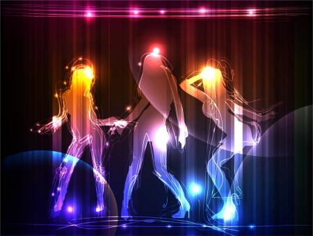 Neon girls Stock Vector - 10307425
