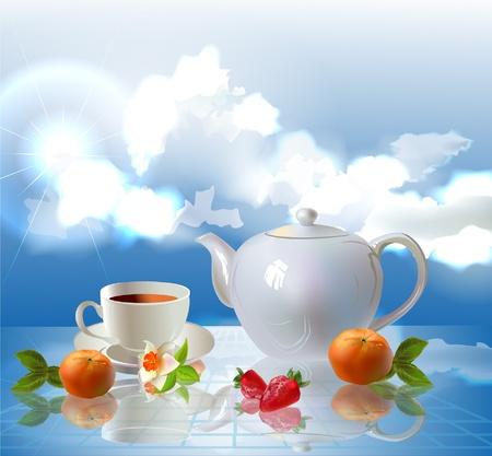 Nice cup of tea Stock Vector - 10315479