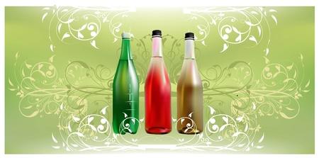 fr�chte in wasser: Fruits Wasser Illustration