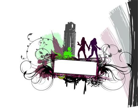 modern city illustration Stock Vector - 10317819