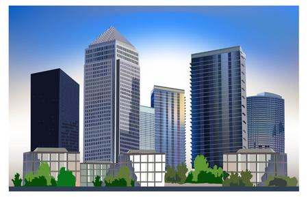 city life: Business city