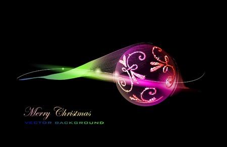 christmas beads: christmas background  Illustration