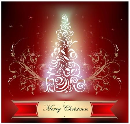 yew: christmas background  Illustration