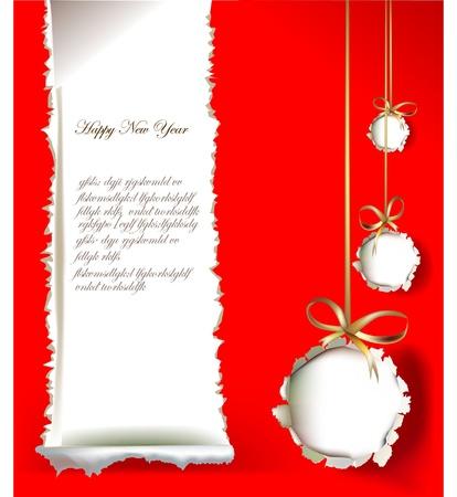 Christmas background made of ripped paper Vector