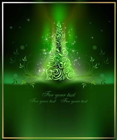 yew: Christmas background