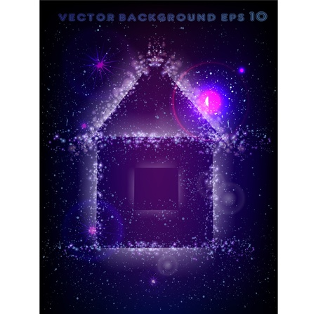 house made of stars background