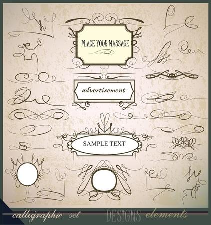 swash: calligraphic design elements  Illustration