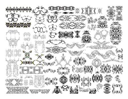 damast: Sammlung von Design-Elemente Illustration