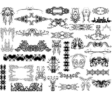 victorian style: collection of design elements