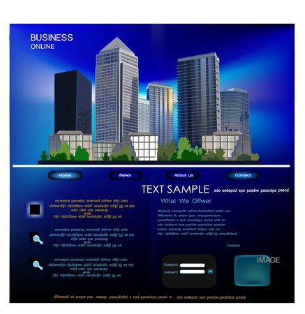 business building: web template
