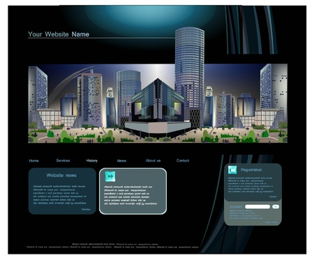 page layout: web template