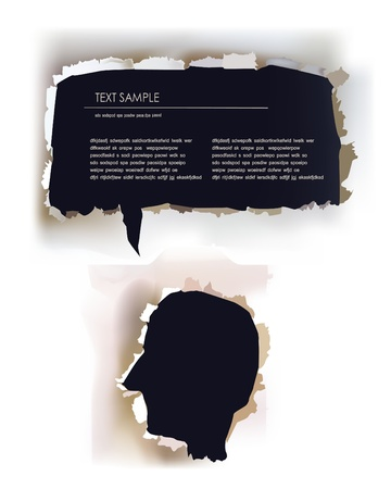 paper face template with bubble Stock Vector - 10326822