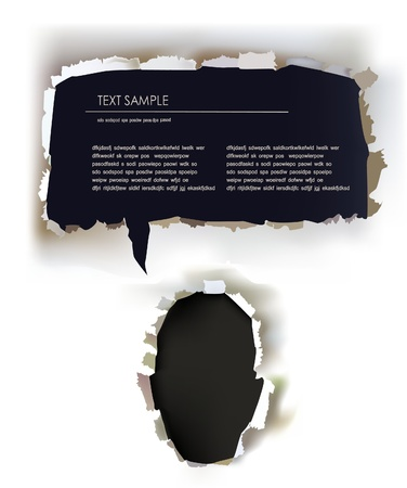 contact sheet: paper face template with bubble  Illustration