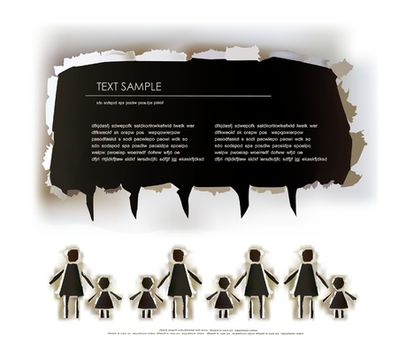 mother board: children Illustration