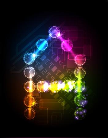 neon party: neon alfabeto Vettoriali