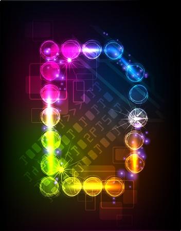fundamentals: neon alphabet