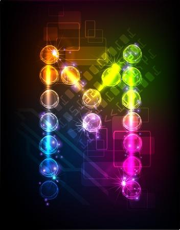 neon alphabet Stock Vector - 10329193
