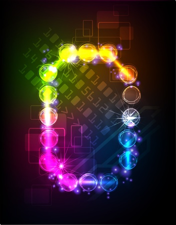 neon alphabet Stock Vector - 10329188