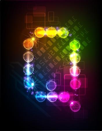 neon alphabet: neon alphabet