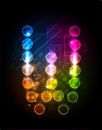 neon alphabet Stock Vector - 10329172