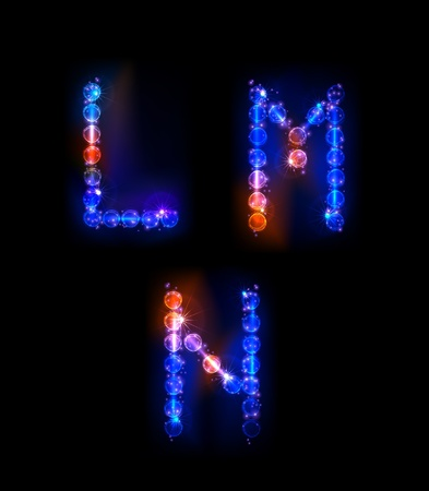 neon alphabet Stock Vector - 10329177