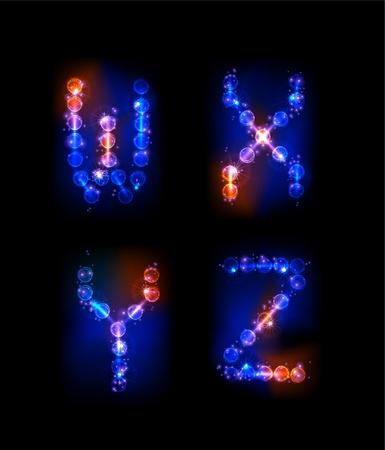 neon alphabet Stock Vector - 10329194