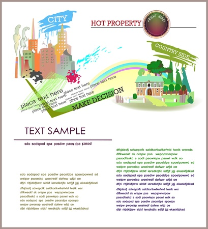 hot property page template Vector