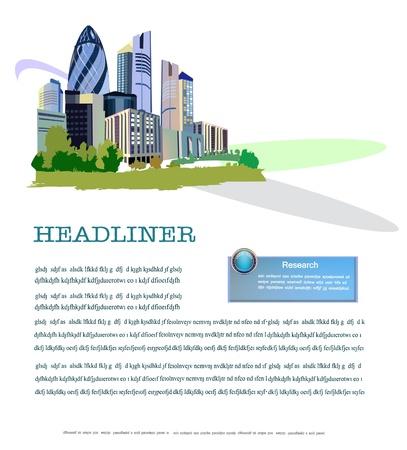website window: Business background
