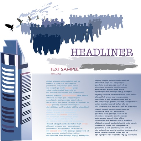 business page template Vector