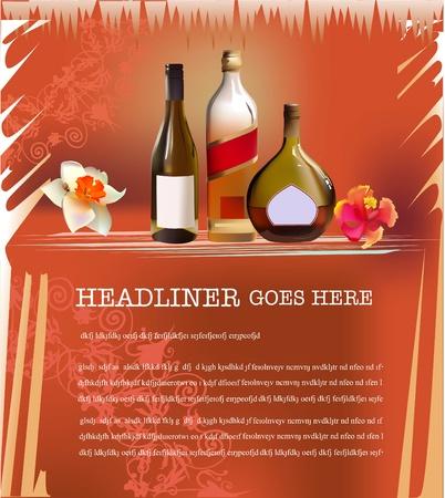 liqueur labels: wine page template