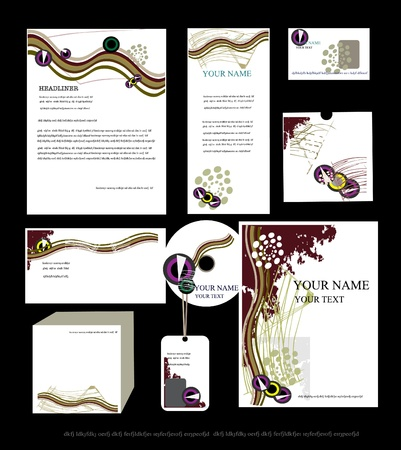 business identity template  Vector