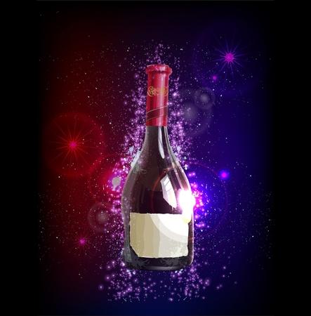 caras emociones: Fantástica botella de vino