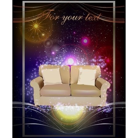 background with sofa  Vector