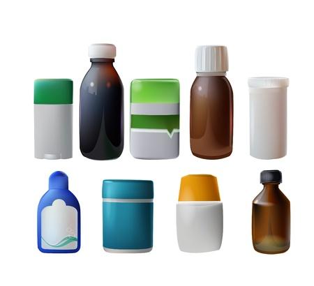 veneno frasco: contenedores de medicina  Vectores