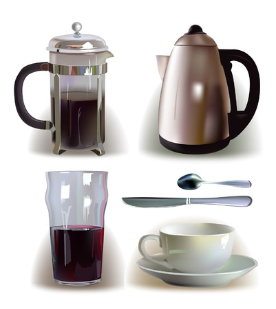 modern kitchen: coffee juse catle cup