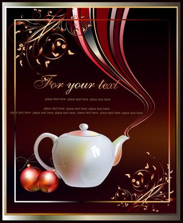 achtergrond met pot thee of koffie