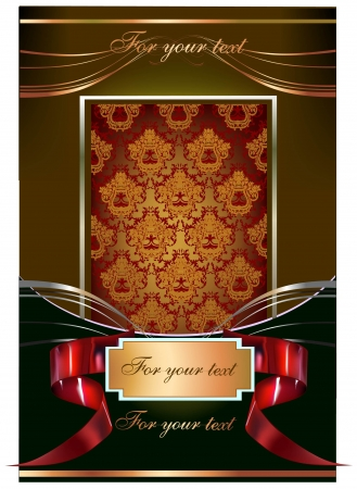 royal background: vector background with banners and label