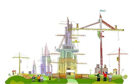 building site illustration Stock Vector - 10336238
