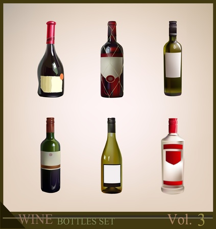 bottles set  Stock Vector - 10365461
