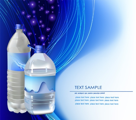 water bottle: background with bottles of water