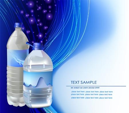 mineralien: Hintergrund mit Flaschen Wasser