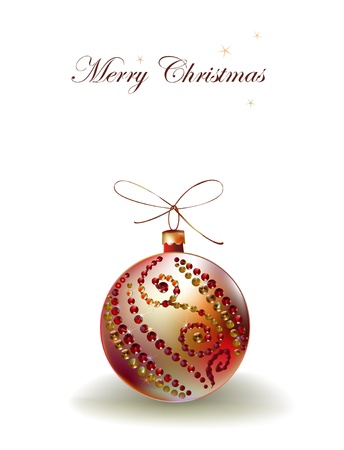 christmas beads: christmas background with ball  Illustration