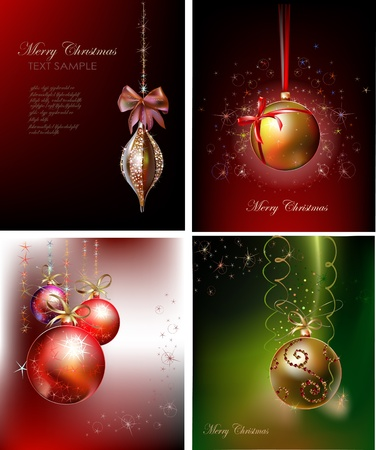 ornament  jewellery: set of christmas backgrounds