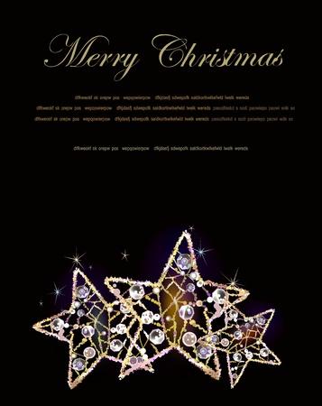 old fashioned christmas: christmas background  Illustration