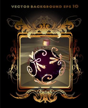 victorian christmas: christmas background  Illustration