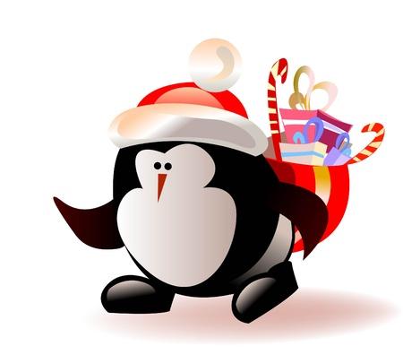 pinguinos navidenos: Navidad pingüino Vectores